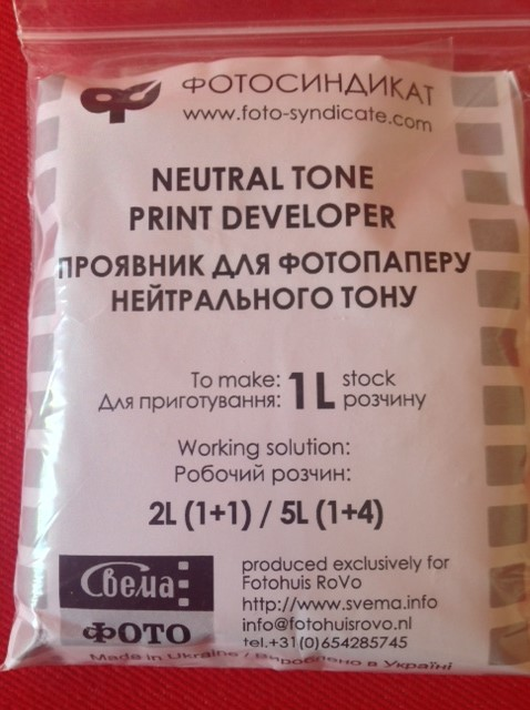 Dektol type D-72 paper developer (powder) for 1 ltr.