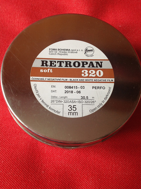 Foma Retropan 320 soft-long length (for 18 films)