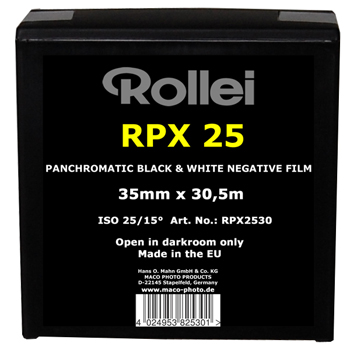 Rollei RPX 25_long lenght (for 18 films)